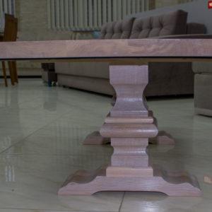 table basse blanche en bois massif
