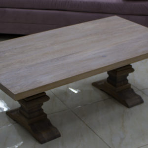 tables basses modernes en chêne et verre