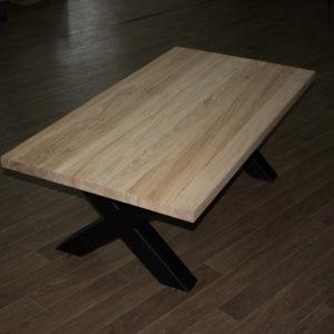 table basse en chêne peinte