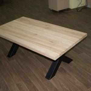 table basse en verre curva - chêne