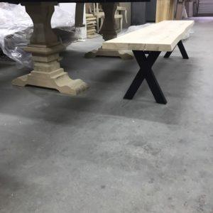 Production de bancs en bois