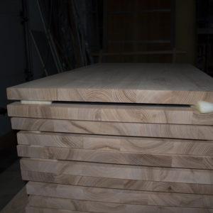 Partie latérale des dessus de table pour des tables de bois de chêne