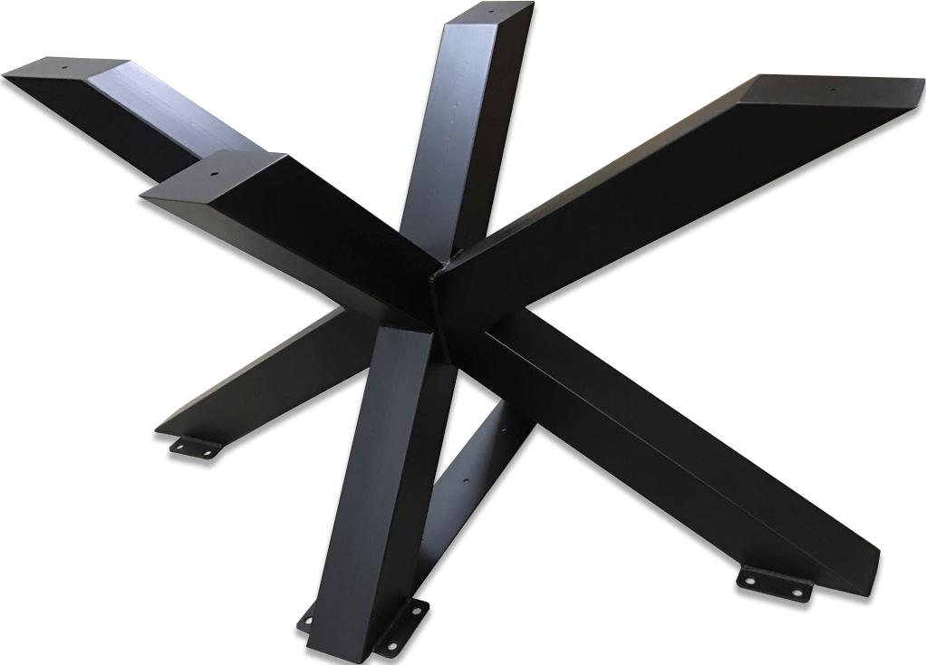 Grosse jambe en métal pour une table. Forme d'araignée