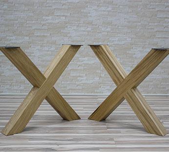 legs for table 1 Production de pieds de tables en acier et en bois