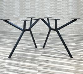 Metal legs mbs 4 Production de pieds de tables en acier et en bois