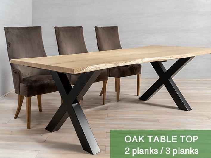 Plateau de table en chêne 2/3 planches