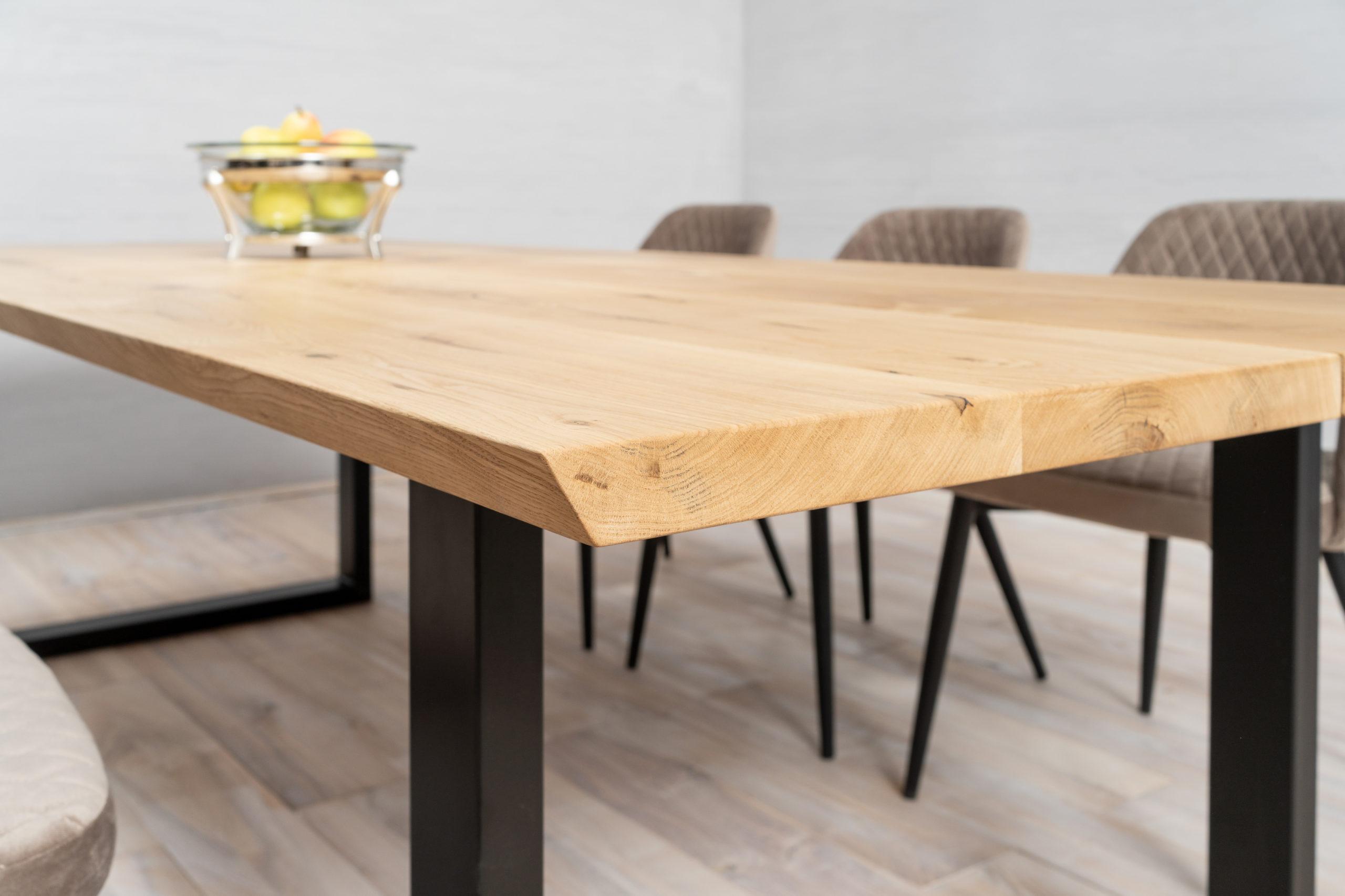 angel cut solid wood tabletop