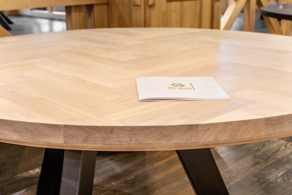 round hardwood table tops