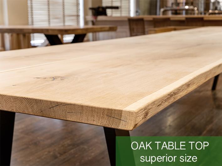 table en chêne taille supérieure
