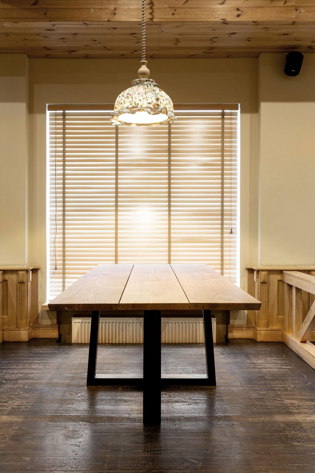 Table en chêne 3 planches