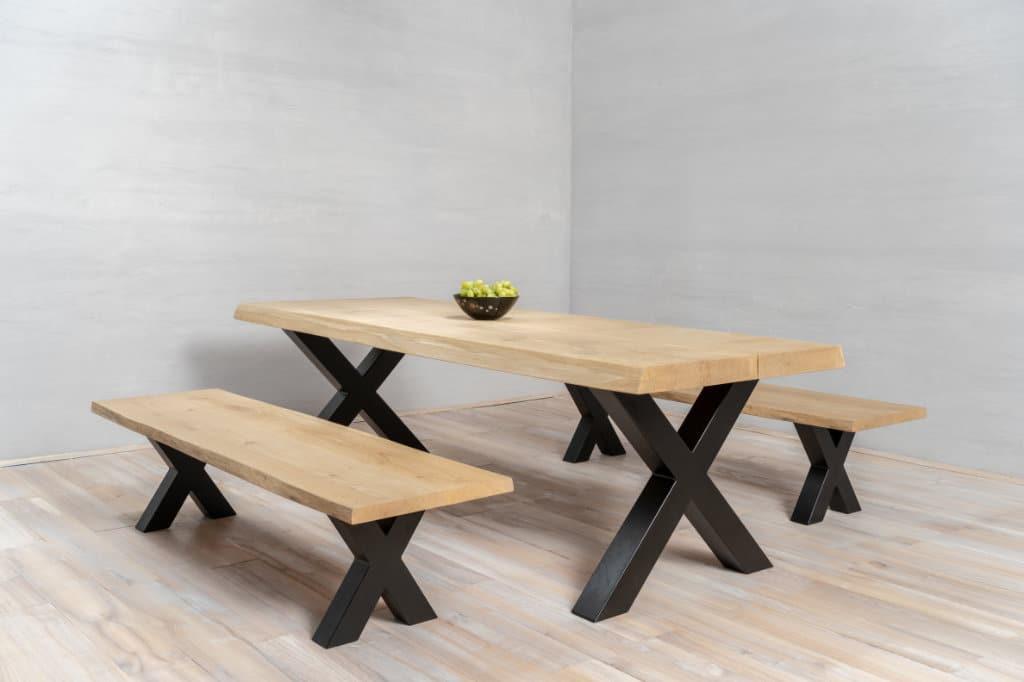 dessus de table en bois coupé sur mesure