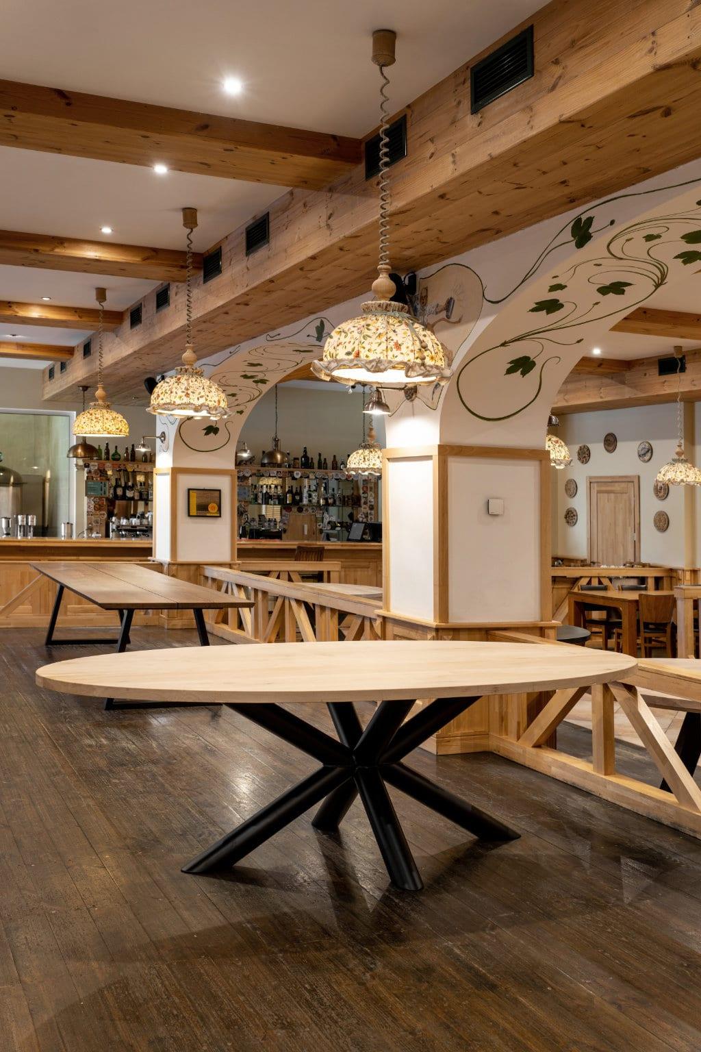 plateau de table en bois rond